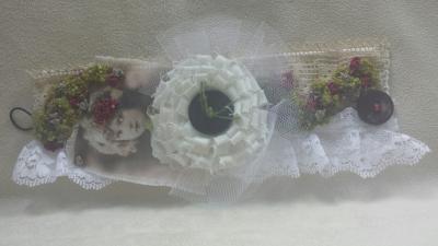 Bracelet manchette tissu Vintage, chic et Romantique